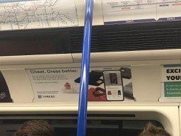 Thread ad on train